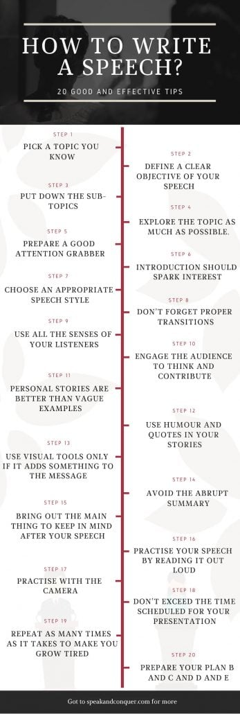How to write a speech: 20 good and effective tips