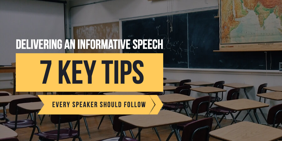 Delivering an informative speech: 7 key tips every speaker should follow